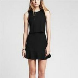 Banana Republic • Black Dress With Flounce Hem